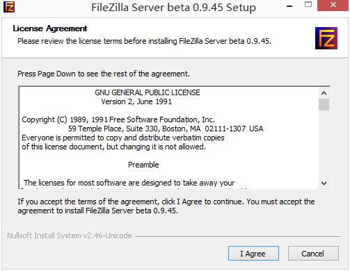 FileZilla Server 安装