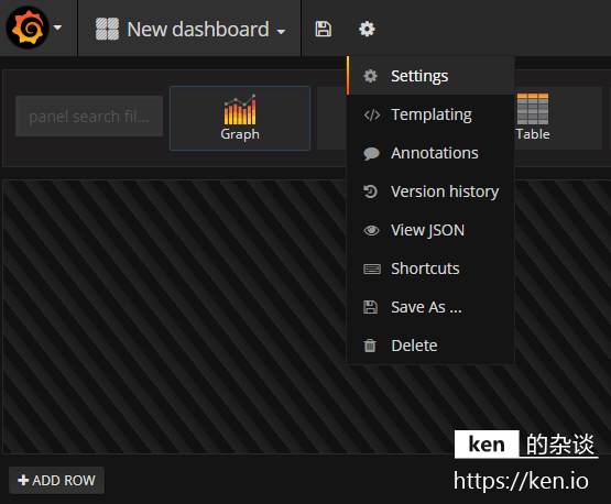 Grafana Dashboard Add
