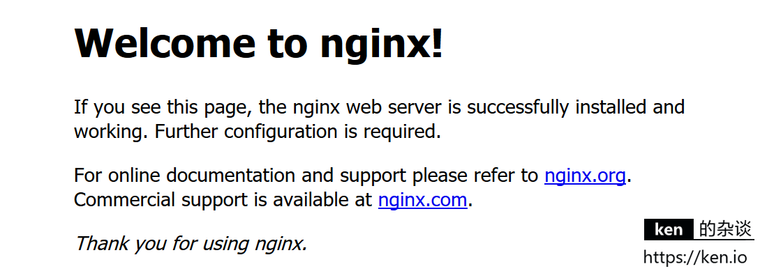 Nginx Welcome